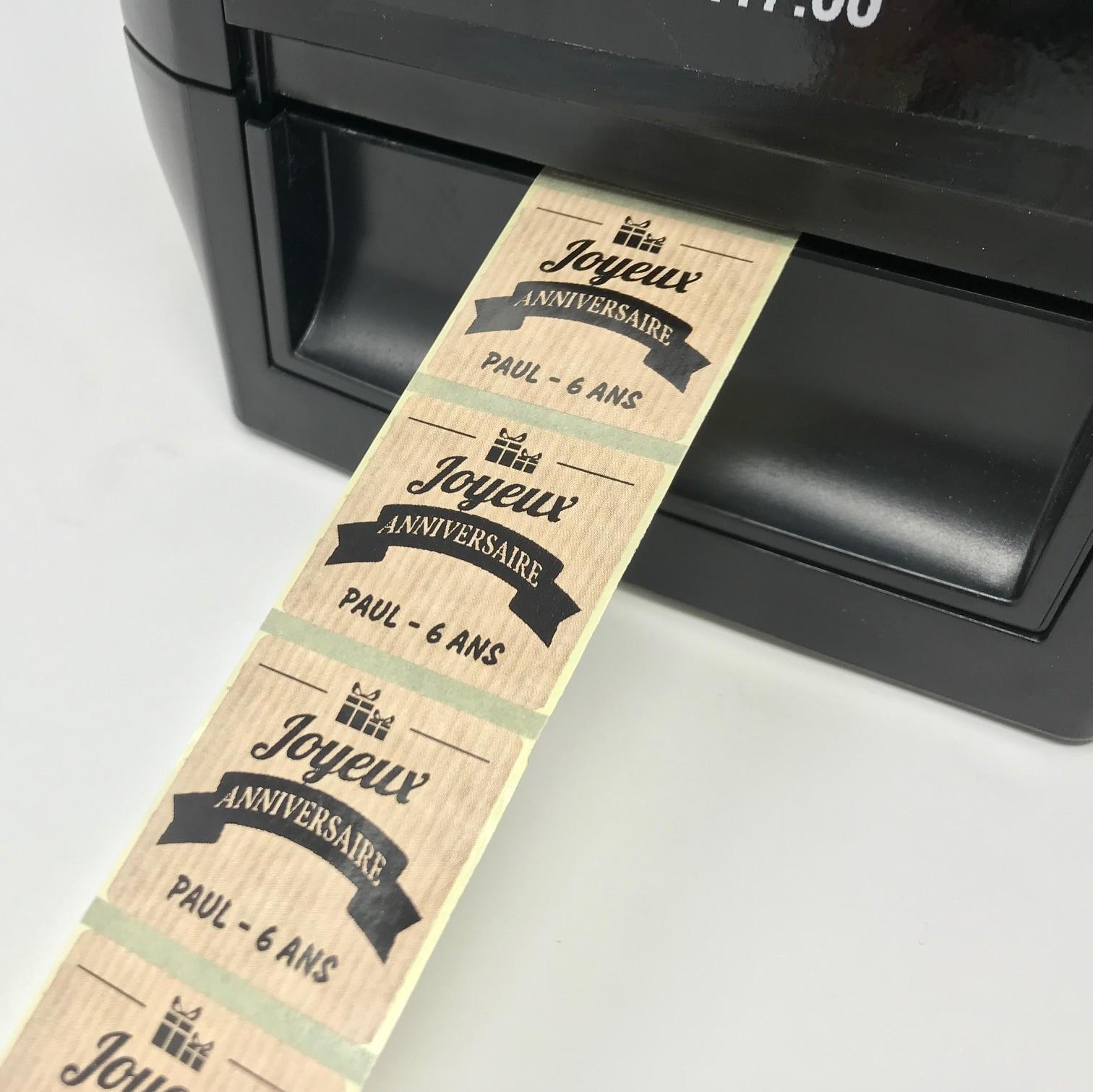 imprimez des étiquettes
